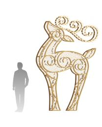 12' LED Reindeer Icon - Warm White