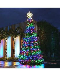 36' RGB Animated Majestic Mountain Pine Christmas Tree