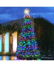 46' RGB Animated Majestic Mountain Pine Christmas Tree