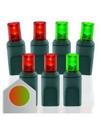 RY Connect Wide Angle Conical Color Change 70 Bulbs - Red and Green