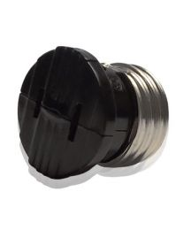 Medium Base Socket Adapter - Black