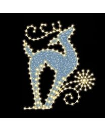 "Regal Reindeer 4' 9"" W x 6' T, 254 Bulbs, LED"