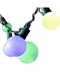 "Specialty Lights - G50, G40 & G30 - 25 ct, 8"" Spacing - Fading Multi Color - Green Wire - LED"