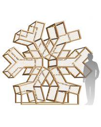 10' Giant LED 3D Snowflake - Warm White - Radiant