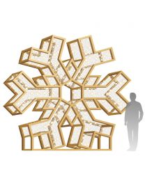 12' LED Snowflake Icon - Radiant - Warm White