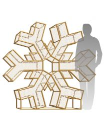 6' LED Snowflake Icon - Radiant - Warm White