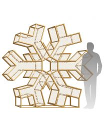 8' LED Snowflake Icon - Radiant - Warm White