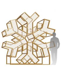 10' LED Icon Snowflake Display - Warm White