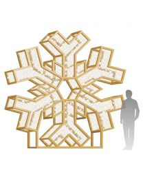 12' LED Snowflake Icon - Warm White
