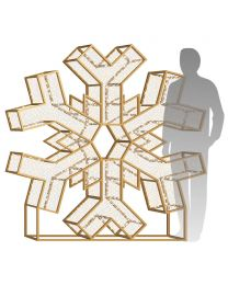 6' LED Snowflake Icon - Warm White