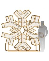 8' LED Snowflake Icon - Warm White