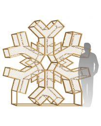 8' LED Snowflake Icon - Warm White