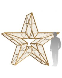 10' 3D LED Star Icon - Warm White