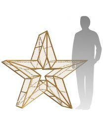 4' 3D LED Star Icon - Warm White