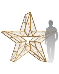 7' 3D LED Star Icon - Warm White