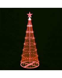 4' LED Light Show Tree-Red