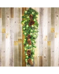 "44"" Mixed Pine Teardrop Spray, Unlit-Without Bow"