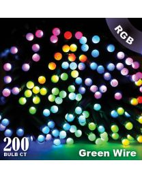 "Twinkly Pro - RGB Capsule - 200 Lights - 4"" Spacing - Green Wire - Single Line"