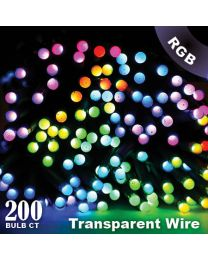 "Twinkly Pro - RGB Capsule - 200 Lights - 4"" Spacing - Transparent Wire - Single Line"