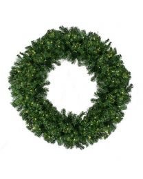 "144"" Deluxe Oregon Fir Wreath, Lit"