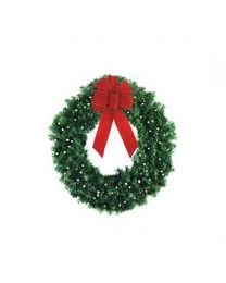 "24"" Deluxe Oregon Fir Wreath, Lit"