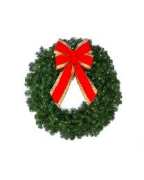 "30"" Deluxe Oregon Fir Wreath, Lit"