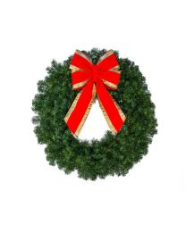 "30"" Deluxe Oregon Fir Wreath, Unlit"