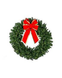 "36"" Deluxe Oregon Fir Wreath Lit"