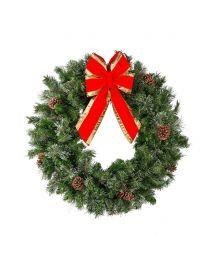 "36"" Mixed Pine Wreath, Unlit"