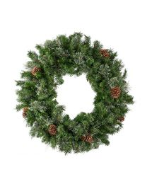 "84"" Mixed Pine Wreath, Unlit-No Bow"