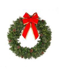 """48"""" Deluxe Mixed Pine Wreath, Unlit"""