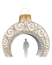 16' LED Ornament Icon Walk Through - Warm White and Pure White
