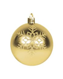 "4"" Shiny Gold w/Gold Triple Snowflake"