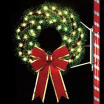4' Elegant Wreath, LED