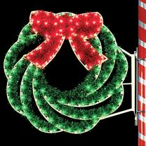 4' Swirl Wreath, LED