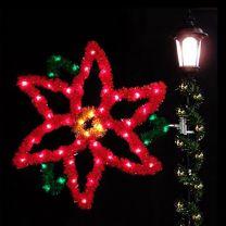 4' Poinsettia, LED
