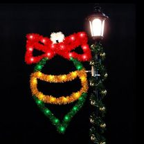 4' Ornament with Bow, LED
