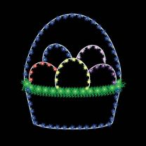 5' Basket with Eggs, LED
