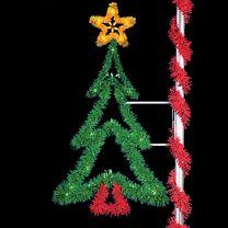 8' Ponderosa Pine Tree, LED