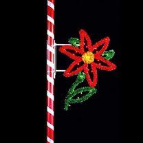 7' Single Poinsettia, LED