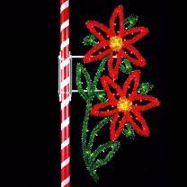 12' Double Poinsettia, LED