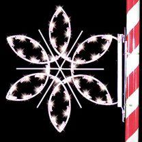 3' Silhouette Fantasy Snowflake, LED