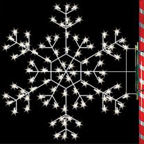 5' Silhouette Cascade Snowflake, LED