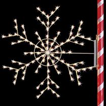 4' Silhouette Arctic Snowflake, LED