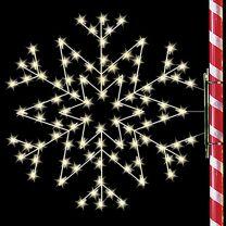 5' Silhouette Arctic Star Snowflake, LED