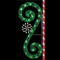 8' Garland Classic Scroll with Snowflake, LED