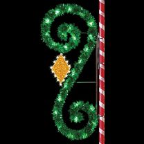 8' Garland Classic Scroll with Diamond, LED