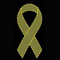 6' Yellow Ribbon with Mesh, LED