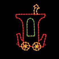 7' Silhouette Caboose Car, LED