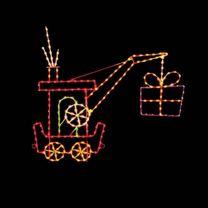 9' Silhouette Crane Car, LED